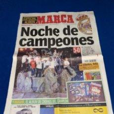 Coleccionismo deportivo: REAL MADRID PERIÓDICO MARCA 27 MAYO 2001 NOCHE DE CAMPEONES CIBELES LIGA S XXI PRIMERA. Lote 237813350