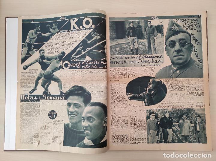 Coleccionismo deportivo: TOMO SEMANARIO GRAFICO DE LOS DEPORTES MARCA 1938-1939 13 PRIMEROS Nº 1-2-3-4-5-6-7-8-9-10-11-12-13 - Foto 18 - 237866785