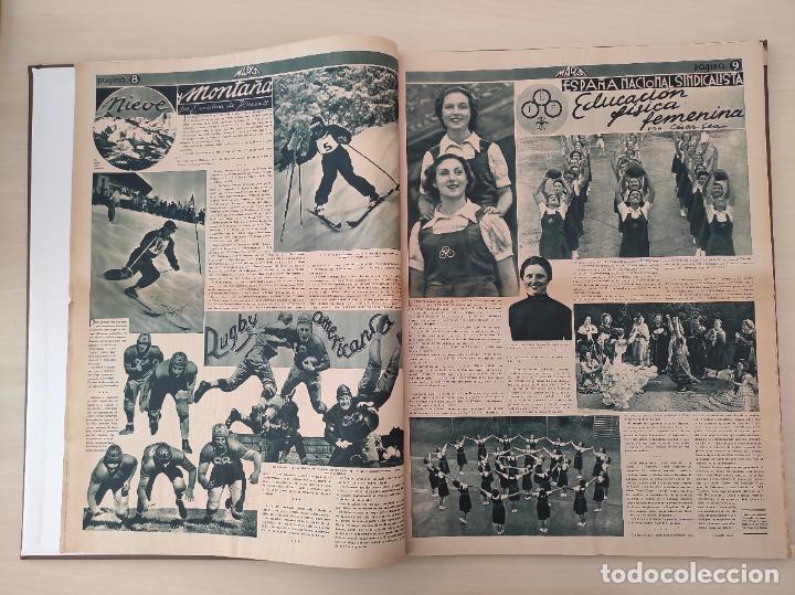 Coleccionismo deportivo: TOMO SEMANARIO GRAFICO DE LOS DEPORTES MARCA 1938-1939 13 PRIMEROS Nº 1-2-3-4-5-6-7-8-9-10-11-12-13 - Foto 14 - 237866785
