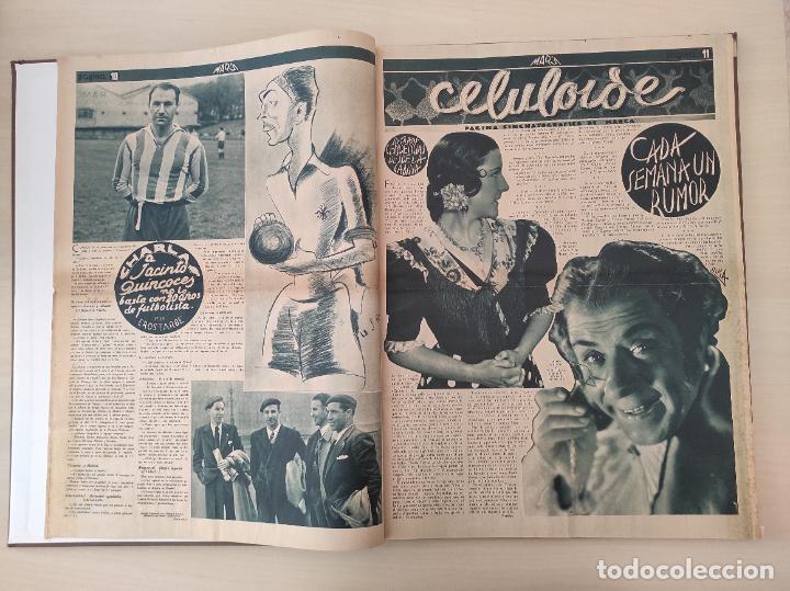 Coleccionismo deportivo: TOMO SEMANARIO GRAFICO DE LOS DEPORTES MARCA 1938-1939 13 PRIMEROS Nº 1-2-3-4-5-6-7-8-9-10-11-12-13 - Foto 16 - 237866785
