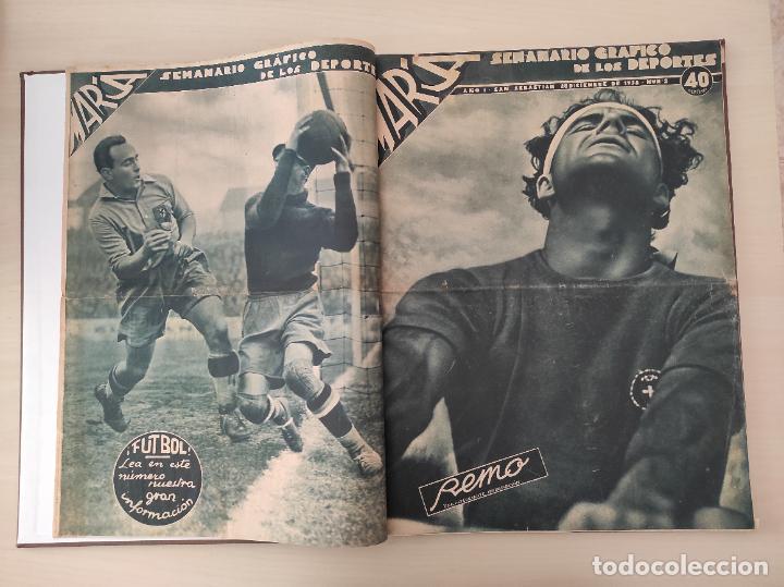 Coleccionismo deportivo: TOMO SEMANARIO GRAFICO DE LOS DEPORTES MARCA 1938-1939 13 PRIMEROS Nº 1-2-3-4-5-6-7-8-9-10-11-12-13 - Foto 2 - 237866785