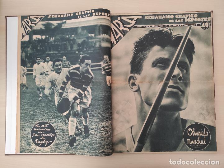 Coleccionismo deportivo: TOMO SEMANARIO GRAFICO DE LOS DEPORTES MARCA 1938-1939 13 PRIMEROS Nº 1-2-3-4-5-6-7-8-9-10-11-12-13 - Foto 3 - 237866785