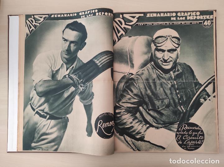 Coleccionismo deportivo: TOMO SEMANARIO GRAFICO DE LOS DEPORTES MARCA 1938-1939 13 PRIMEROS Nº 1-2-3-4-5-6-7-8-9-10-11-12-13 - Foto 5 - 237866785