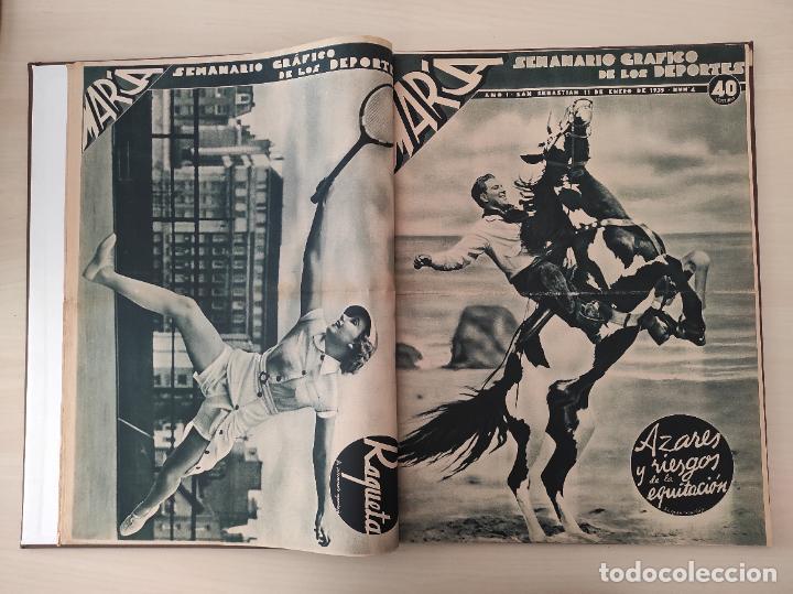 Coleccionismo deportivo: TOMO SEMANARIO GRAFICO DE LOS DEPORTES MARCA 1938-1939 13 PRIMEROS Nº 1-2-3-4-5-6-7-8-9-10-11-12-13 - Foto 4 - 237866785