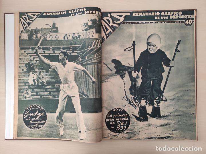 Coleccionismo deportivo: TOMO SEMANARIO GRAFICO DE LOS DEPORTES MARCA 1938-1939 13 PRIMEROS Nº 1-2-3-4-5-6-7-8-9-10-11-12-13 - Foto 6 - 237866785