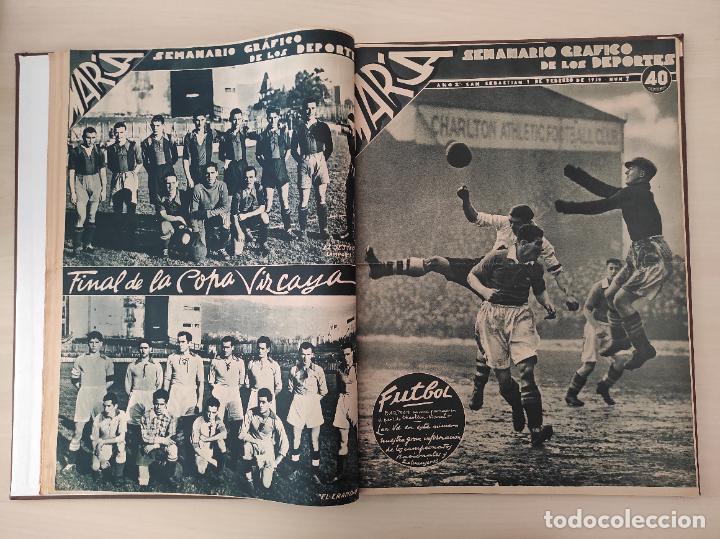 Coleccionismo deportivo: TOMO SEMANARIO GRAFICO DE LOS DEPORTES MARCA 1938-1939 13 PRIMEROS Nº 1-2-3-4-5-6-7-8-9-10-11-12-13 - Foto 7 - 237866785