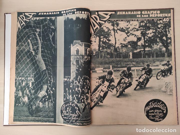 Coleccionismo deportivo: TOMO SEMANARIO GRAFICO DE LOS DEPORTES MARCA 1938-1939 13 PRIMEROS Nº 1-2-3-4-5-6-7-8-9-10-11-12-13 - Foto 9 - 237866785