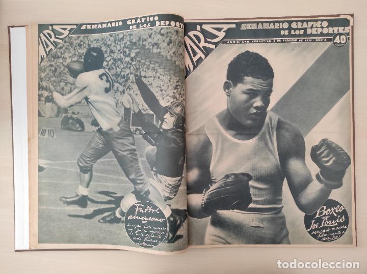 Coleccionismo deportivo: TOMO SEMANARIO GRAFICO DE LOS DEPORTES MARCA 1938-1939 13 PRIMEROS Nº 1-2-3-4-5-6-7-8-9-10-11-12-13 - Foto 8 - 237866785