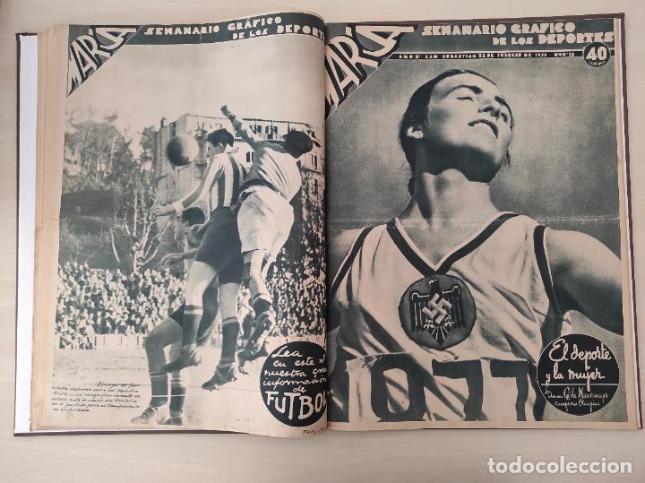 Coleccionismo deportivo: TOMO SEMANARIO GRAFICO DE LOS DEPORTES MARCA 1938-1939 13 PRIMEROS Nº 1-2-3-4-5-6-7-8-9-10-11-12-13 - Foto 10 - 237866785