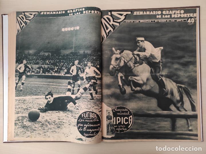 Coleccionismo deportivo: TOMO SEMANARIO GRAFICO DE LOS DEPORTES MARCA 1938-1939 13 PRIMEROS Nº 1-2-3-4-5-6-7-8-9-10-11-12-13 - Foto 11 - 237866785