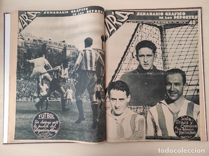 Coleccionismo deportivo: TOMO SEMANARIO GRAFICO DE LOS DEPORTES MARCA 1938-1939 13 PRIMEROS Nº 1-2-3-4-5-6-7-8-9-10-11-12-13 - Foto 12 - 237866785