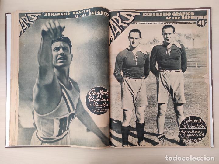 Coleccionismo deportivo: TOMO SEMANARIO GRAFICO DE LOS DEPORTES MARCA 1938-1939 13 PRIMEROS Nº 1-2-3-4-5-6-7-8-9-10-11-12-13 - Foto 13 - 237866785