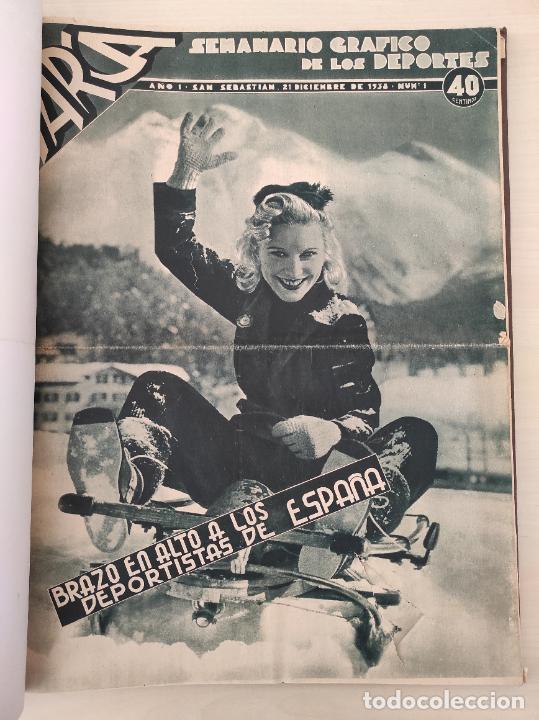 TOMO SEMANARIO GRAFICO DE LOS DEPORTES MARCA 1938-1939 13 PRIMEROS Nº 1-2-3-4-5-6-7-8-9-10-11-12-13 (Coleccionismo Deportivo - Revistas y Periódicos - Marca)