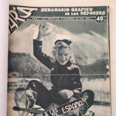 Collectionnisme sportif: TOMO SEMANARIO GRAFICO DE LOS DEPORTES MARCA 1938-1939 13 PRIMEROS Nº 1-2-3-4-5-6-7-8-9-10-11-12-13. Lote 237866785