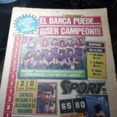 Coleccionismo deportivo: SPORT N° 1579 . 9 DE ABRIL DE 1984 . EL BARCA PUEDE ¡¡¡ SER CAMPEON !!!. SABADELL 6 COMPOSTELA 0 .. Lote 237927400