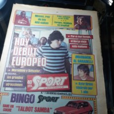 Coleccionismo deportivo: SPORT 9 AGOSTO 1983 . BARCELONA- ANDERLECHT . DEBUT EUROPEO DEL BARCA MARADONA PROMETE 2 GOLES.. Lote 237930625