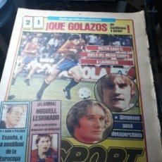 Coleccionismo deportivo: DIARIO SPORT N° 1582 .12 DE ABRIL DE 1984 .ESPAÑA 2 DINAMARCA 1.ADIOS A LATO EL UWEE SELLER POLACO. Lote 237942545