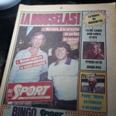 Coleccionismo deportivo: SPORT 9 DE AGOSTO DE 1983 . MARADONA ATRACCION EN BRUSELAS . HELSINKI 83 -LOZANO - CARL LEWIS VOLO .. Lote 237959455