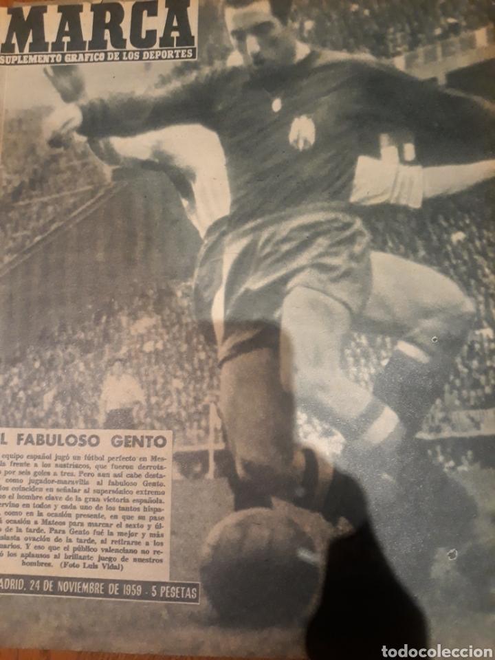 REVISTA MARCA 1959. EL FABULOSO GENTO - FISHER AJEDREZ - COPA LATINA DE HOCKEY.SANTANA EN ARGENTINA (Coleccionismo Deportivo - Revistas y Periódicos - Marca)