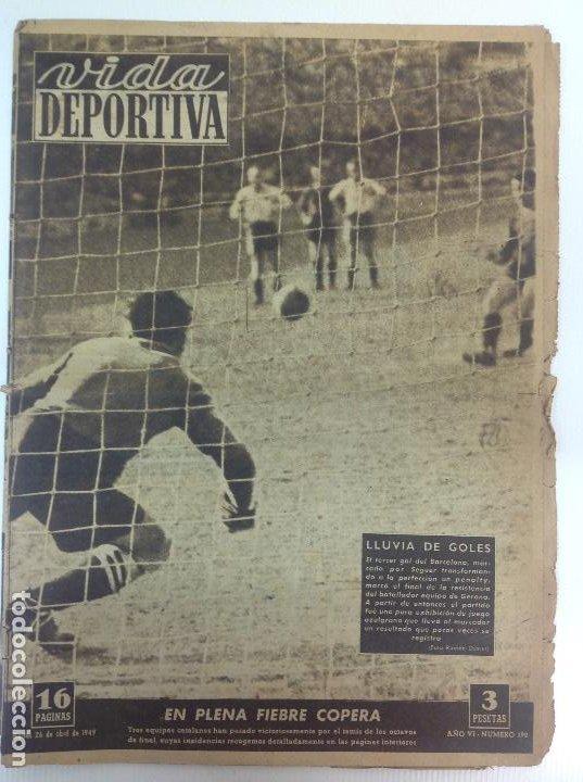 VIDA DEPORTIVA NÚMERO 190, ABRIL DE 1949 (Coleccionismo Deportivo - Revistas y Periódicos - Vida Deportiva)