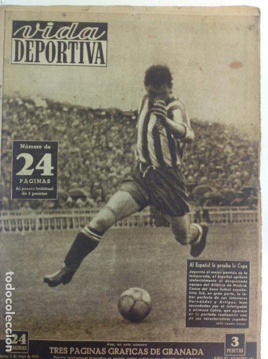 VIDA DEPORTIVA NÚMERO 191, MAYO DE 1949 (Coleccionismo Deportivo - Revistas y Periódicos - Vida Deportiva)