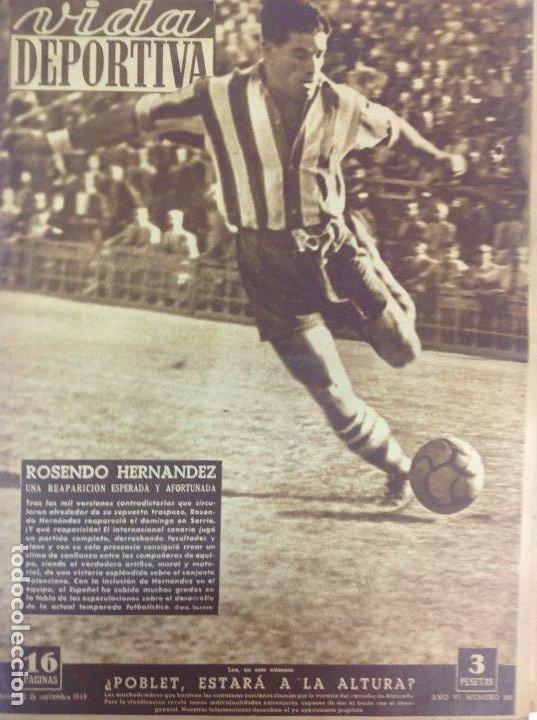 VIDA DEPORTIVA NÚMERO 211, SEPTIEMBRE DE 1949 (Coleccionismo Deportivo - Revistas y Periódicos - Vida Deportiva)