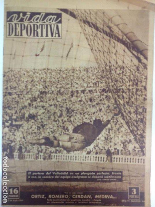 VIDA DEPORTIVA NÚMERO 214, OCTUBRE DE 1949 (Coleccionismo Deportivo - Revistas y Periódicos - Vida Deportiva)
