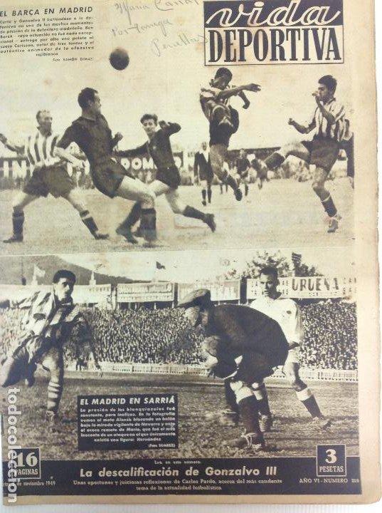 VIDA DEPORTIVA NÚMERO 218, NOVIEMBRE DE 1949 (Coleccionismo Deportivo - Revistas y Periódicos - Vida Deportiva)