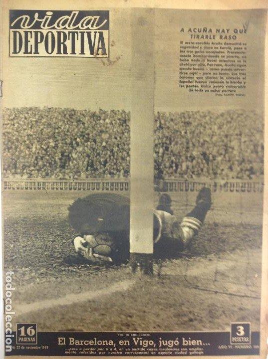 VIDA DEPORTIVA NÚMERO 220, NOVIEMBRE DE 1949 (Coleccionismo Deportivo - Revistas y Periódicos - Vida Deportiva)