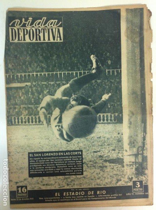 VIDA DEPORTIVA NÚMERO 225, DICIEMBRE DE 1949 (Coleccionismo Deportivo - Revistas y Periódicos - Vida Deportiva)