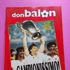 Coleccionismo deportivo: REVISTA DON BALON Nº 711 ESPECIAL AC MILAN CAMPEON COPA DE EUROPA 88/89 POSTER 1988/1989 STEAUA. Lote 238473200