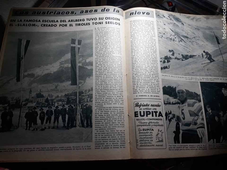 Coleccionismo deportivo: MARCA 1959 . R.MADRID 7 OSASUNA 0 - R.SOCIEDAD 0 AT. MADRID 3. COPA DE EUROPA R.MADRID 7 JEUNESSE 0. - Foto 4 - 238487195