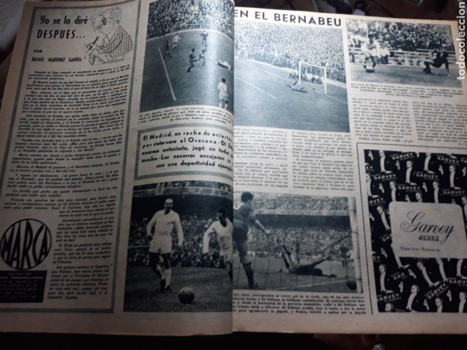 MARCA 1959 . R.MADRID 7 OSASUNA 0 - R.SOCIEDAD 0 AT. MADRID 3. COPA DE EUROPA R.MADRID 7 JEUNESSE 0. (Coleccionismo Deportivo - Revistas y Periódicos - Marca)