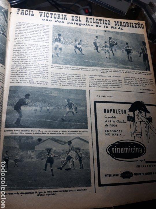 Coleccionismo deportivo: MARCA 1959 . R.MADRID 7 OSASUNA 0 - R.SOCIEDAD 0 AT. MADRID 3. COPA DE EUROPA R.MADRID 7 JEUNESSE 0. - Foto 2 - 238487195