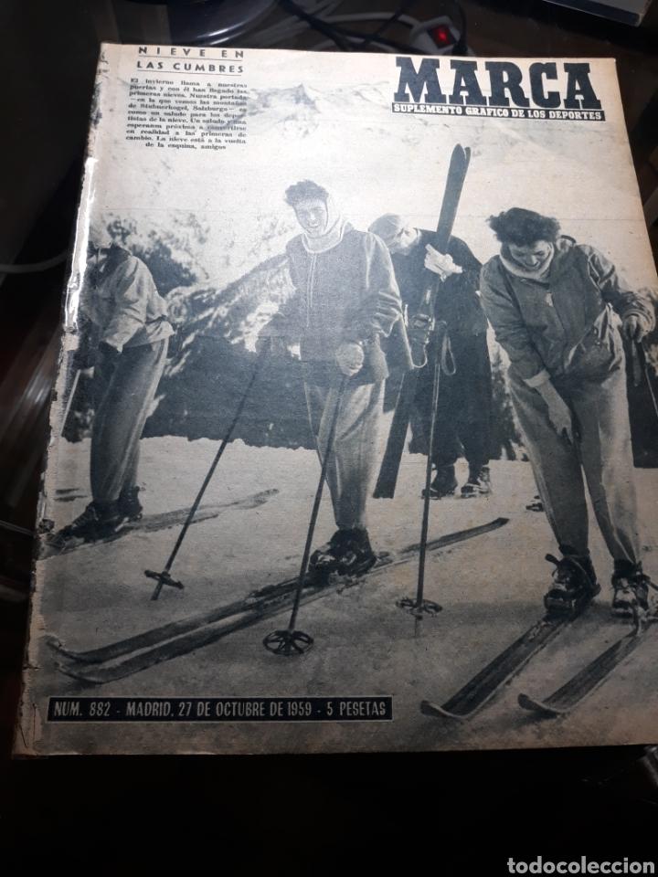 Coleccionismo deportivo: MARCA 1959 . R.MADRID 7 OSASUNA 0 - R.SOCIEDAD 0 AT. MADRID 3. COPA DE EUROPA R.MADRID 7 JEUNESSE 0. - Foto 8 - 238487195