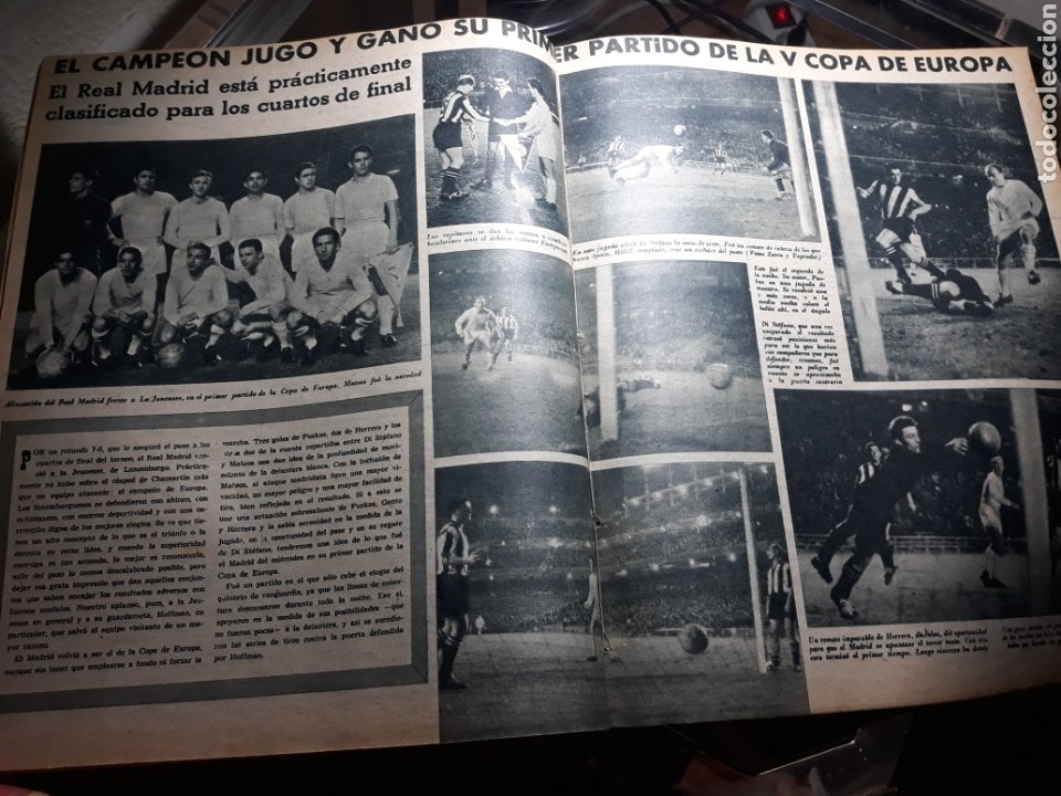 Coleccionismo deportivo: MARCA 1959 . R.MADRID 7 OSASUNA 0 - R.SOCIEDAD 0 AT. MADRID 3. COPA DE EUROPA R.MADRID 7 JEUNESSE 0. - Foto 3 - 238487195