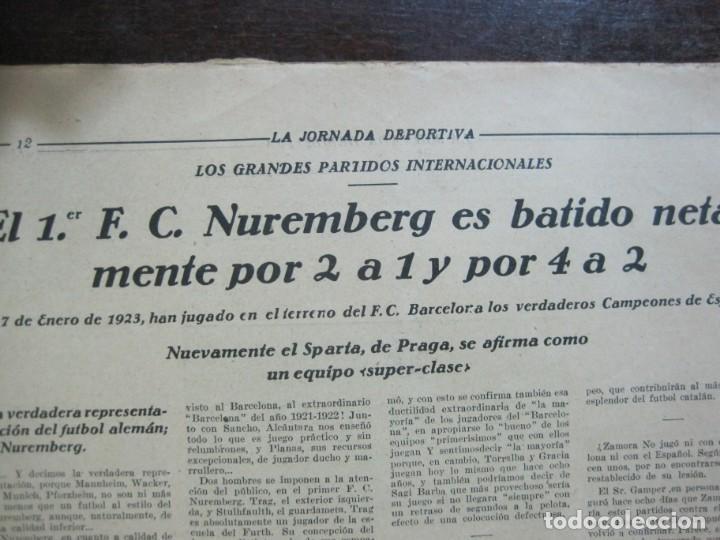 Coleccionismo deportivo: LA JORNADA DEPORTIVA-Nº 99-1923-NUREMBERG VS FC BARCELONA-ALCANTARA-FUTBOL-VER FOTOS-(V-22.516) - Foto 14 - 238495915