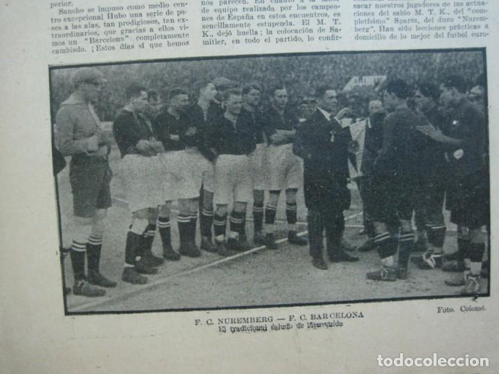 Coleccionismo deportivo: LA JORNADA DEPORTIVA-Nº 99-1923-NUREMBERG VS FC BARCELONA-ALCANTARA-FUTBOL-VER FOTOS-(V-22.516) - Foto 15 - 238495915