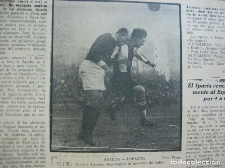 Coleccionismo deportivo: LA JORNADA DEPORTIVA-Nº 99-1923-NUREMBERG VS FC BARCELONA-ALCANTARA-FUTBOL-VER FOTOS-(V-22.516) - Foto 30 - 238495915