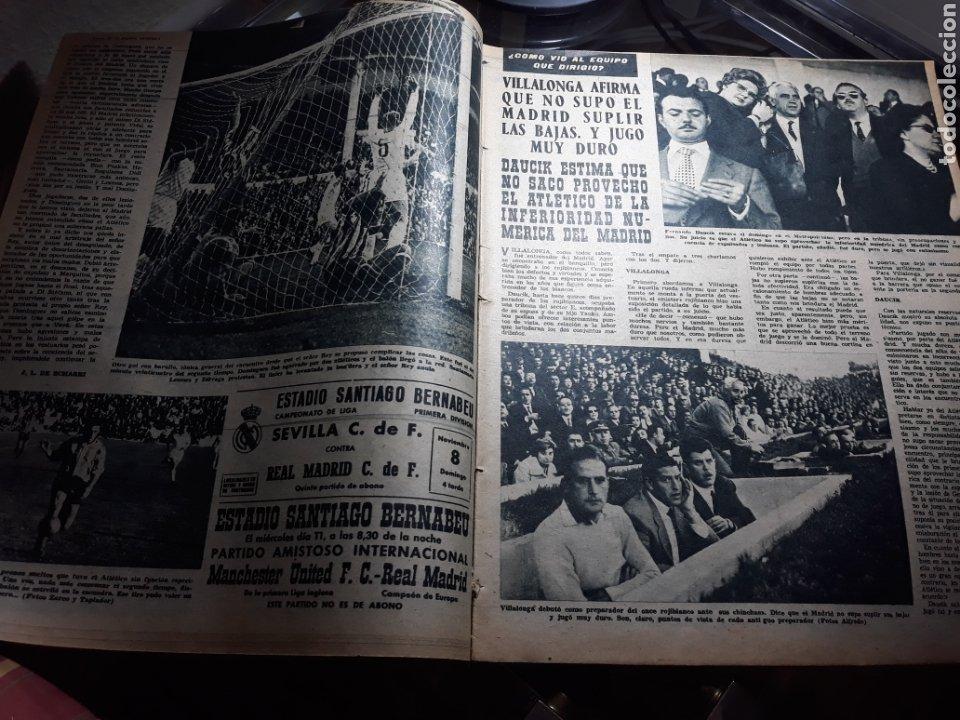 Coleccionismo deportivo: REVISTA MARCA 1959 .R.MADRID 3 AT.MADRID 3. BARCELONA MILAN .VENCIO EL RAYO AL PLUS ULTRA - Foto 3 - 238496490