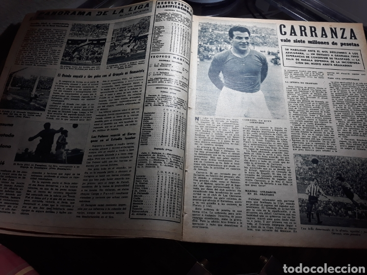 Coleccionismo deportivo: REVISTA MARCA 1959 .R.MADRID 3 AT.MADRID 3. BARCELONA MILAN .VENCIO EL RAYO AL PLUS ULTRA - Foto 5 - 238496490