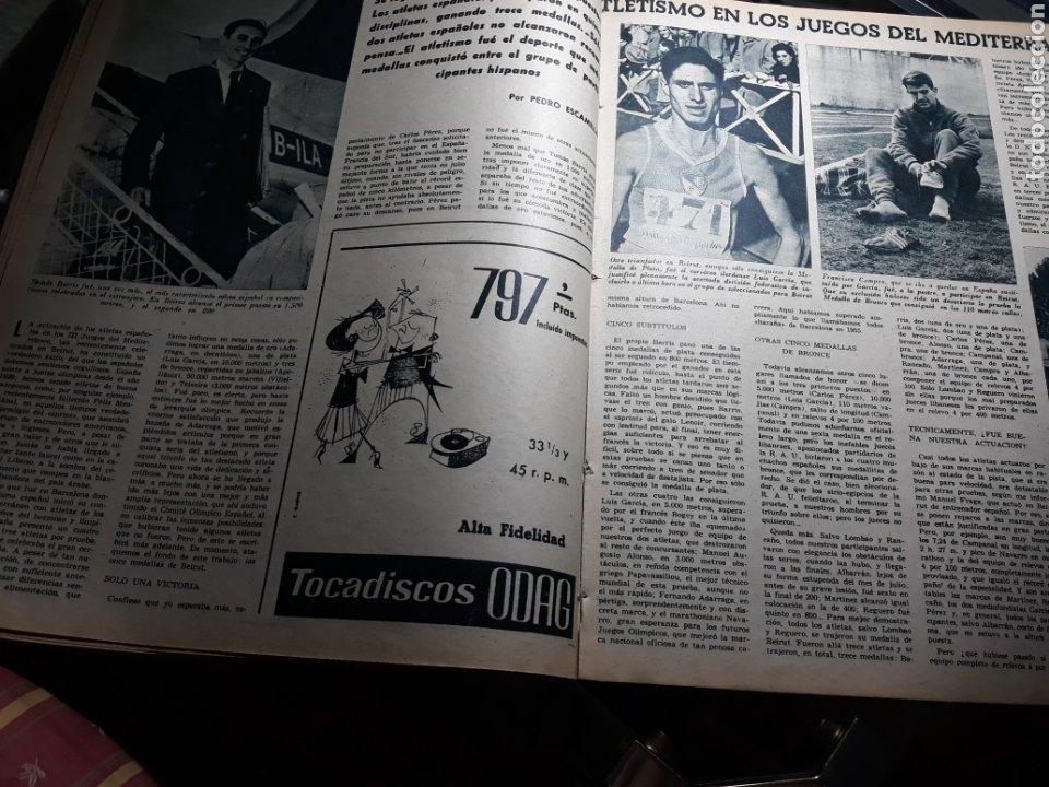 Coleccionismo deportivo: REVISTA MARCA 1959 .R.MADRID 3 AT.MADRID 3. BARCELONA MILAN .VENCIO EL RAYO AL PLUS ULTRA - Foto 8 - 238496490