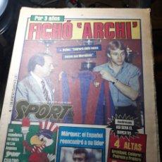 Coleccionismo deportivo: SPORT 25 DE JULIO DE 1984 . FICHO ARCHIBALD - OLIMPIADAS DE LOS ANGELES 84 -URBANO ESPAÑOL. Lote 238502560