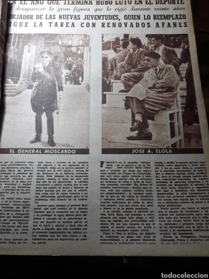 Coleccionismo deportivo: MARCA SUPLEMENTO GRÁFICO DE LOS DEPORTES.NUMERO EXTRAORDINARIO FIN DE AÑO N° 734 25 DICIEMBRE 1956 - Foto 2 - 238656225