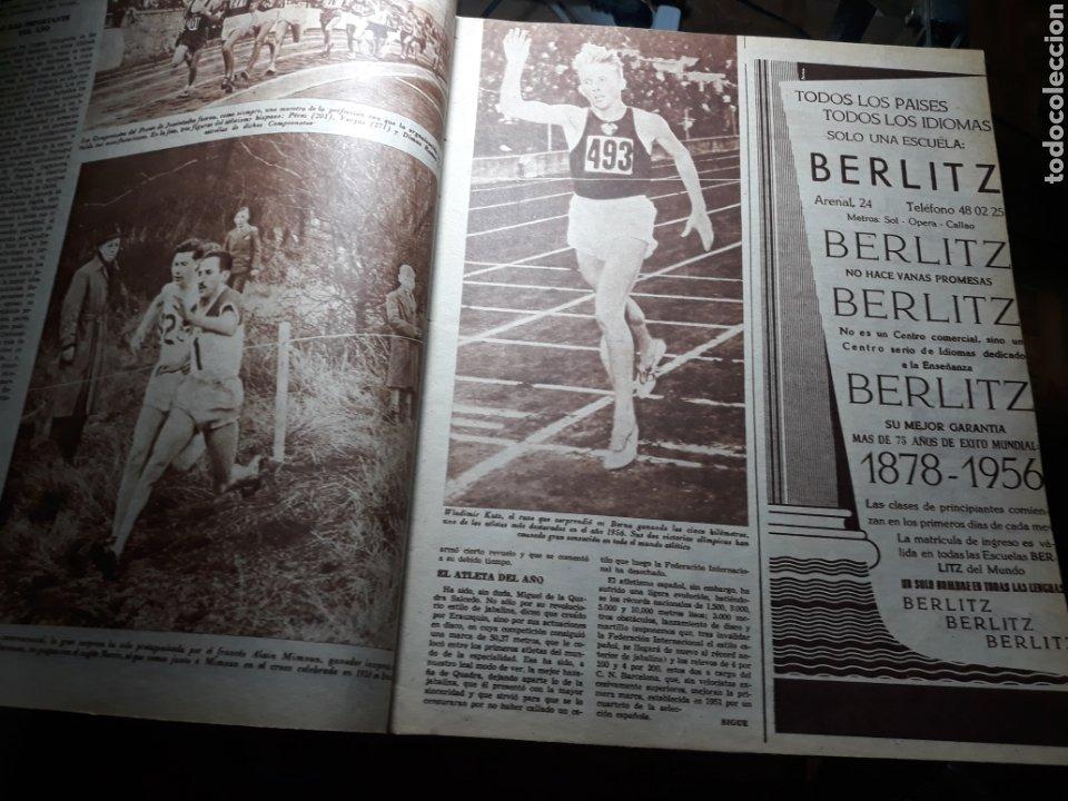 Coleccionismo deportivo: MARCA SUPLEMENTO GRÁFICO DE LOS DEPORTES.NUMERO EXTRAORDINARIO FIN DE AÑO N° 734 25 DICIEMBRE 1956 - Foto 3 - 238656225