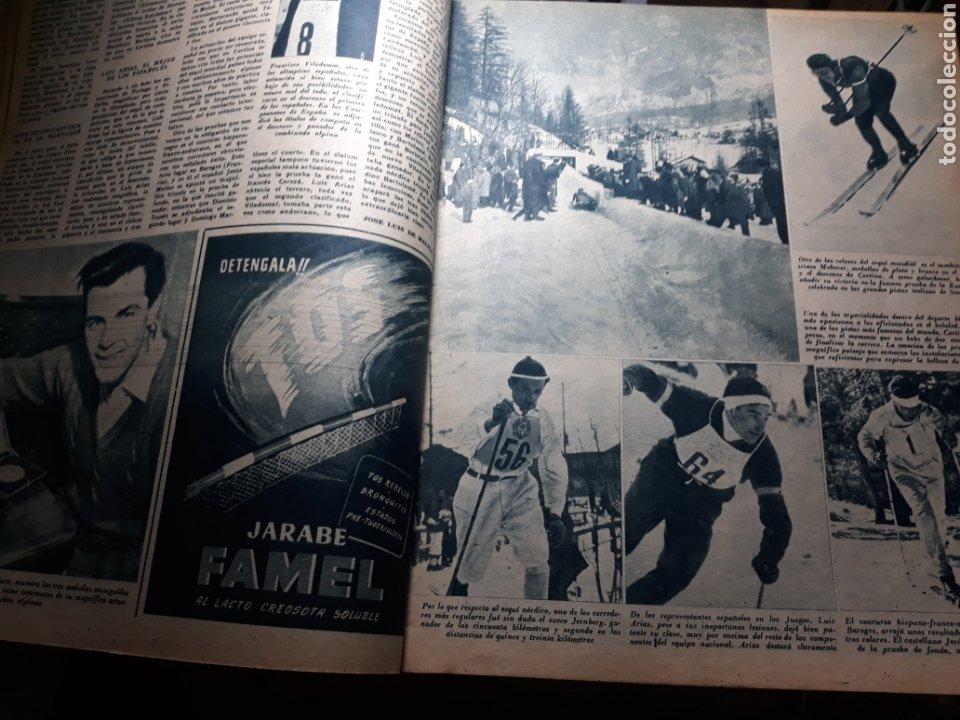 Coleccionismo deportivo: MARCA SUPLEMENTO GRÁFICO DE LOS DEPORTES.NUMERO EXTRAORDINARIO FIN DE AÑO N° 734 25 DICIEMBRE 1956 - Foto 4 - 238656225