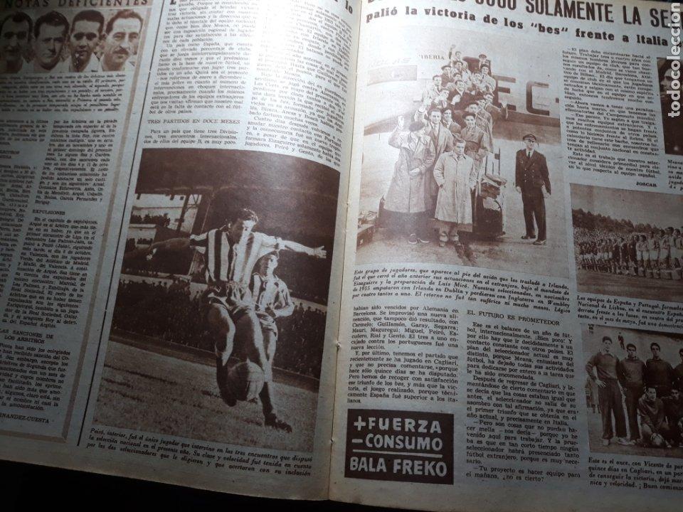 Coleccionismo deportivo: MARCA SUPLEMENTO GRÁFICO DE LOS DEPORTES.NUMERO EXTRAORDINARIO FIN DE AÑO N° 734 25 DICIEMBRE 1956 - Foto 8 - 238656225
