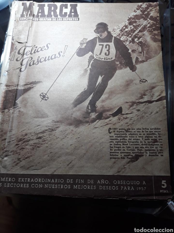 MARCA SUPLEMENTO GRÁFICO DE LOS DEPORTES.NUMERO EXTRAORDINARIO FIN DE AÑO N° 734 25 DICIEMBRE 1956 (Coleccionismo Deportivo - Revistas y Periódicos - Marca)