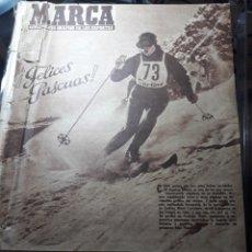 Coleccionismo deportivo: MARCA SUPLEMENTO GRÁFICO DE LOS DEPORTES.NUMERO EXTRAORDINARIO FIN DE AÑO N° 734 25 DICIEMBRE 1956. Lote 238656225