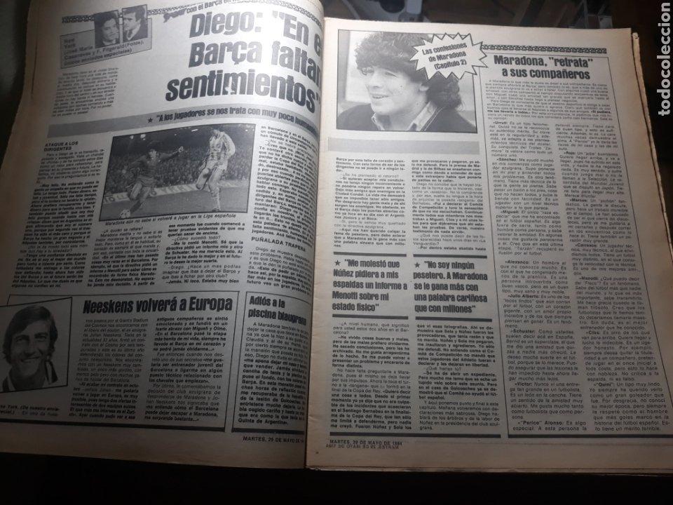 Coleccionismo deportivo: SPORT 29 MAYO 1984 . COSMOS 5 BARCELONA 3 - ULTIMÁTUM MARADONA -SCHUSTER , OFERTA DEL TORINO . - Foto 3 - 238807660